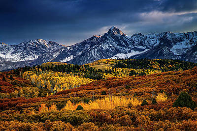 Rocky Mountain Autumn Print by Andrew Soundarajan