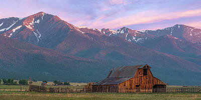 Photograph - Rocky Mountain Barn by Aaron Spong