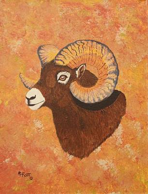 Painting - Rocky Mountain Big Horn Sheep by Ralph Root