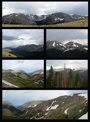 Photograph - Rocky Mountain Black Background by Mary Bedy