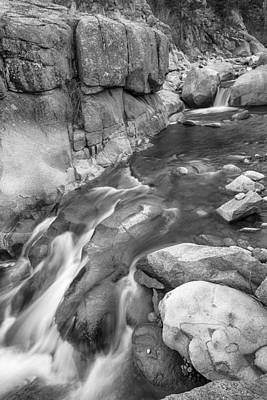 Photograph - Rocky Mountain Canyon Streaming In Black And White by James BO Insogna