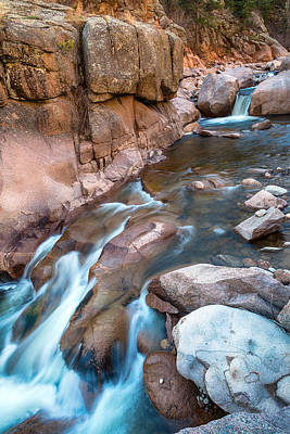 Photograph - Rocky Mountain Canyon Streaming  by James BO Insogna
