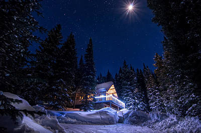 Path Photograph - Rocky Mountain Chalet by Michael J Bauer
