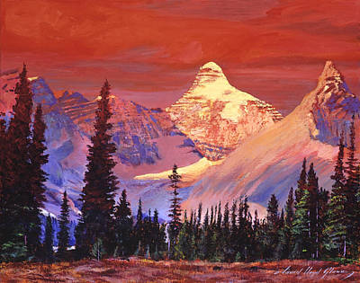 Outoors Painting -  Mountain Colors by David Lloyd Glover