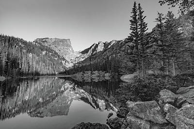 Photograph - Rocky Mountain Dream - Black And White Mountain Landscape by Gregory Ballos