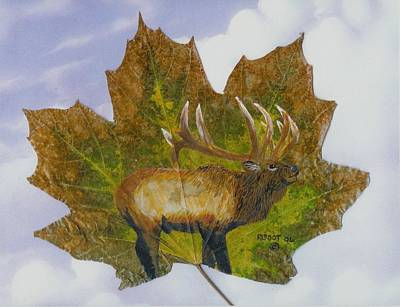 Painting - Rocky Mountain Elk by Ralph Root