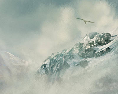 Painting - Rocky Mountain Flight by Jean Moore