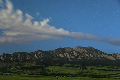 Photograph - Rocky Mountain Foothills Starlight View by James BO Insogna