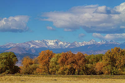 Photograph - Rocky Mountain Front Range Colorful View by James BO Insogna