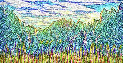 Digital Art - Rocky Mountain Gateway - Mountains Of Colorado by Joel Bruce Wallach