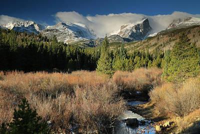 Photograph - Rocky Mountain Hallett Peak by Zach Rockvam