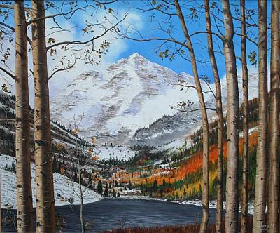 Painting - Rocky Mountain High by Mike Ivey
