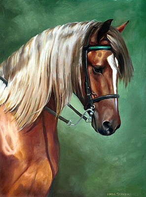 Bridle Painting - Rocky Mountain Horse by Linda Tenukas