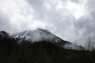 Photograph - Rocky Mountain In Cloud by Donna Munro