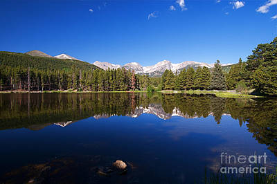 Rocky Mountain Lake In A Colorado National Park Art Print by ELITE IMAGE photography By Chad McDermott