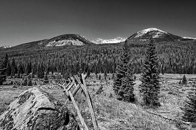 Photograph - Rocky Mountain National Park Black And White by Judy Vincent