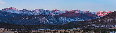 Photograph - Rocky Mountain National Park First Light Panorama by James BO  Insogna