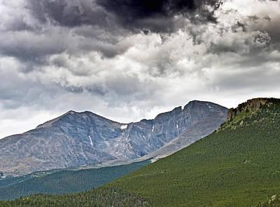 Rocky Mountain National Park Mount Meeker And Longs Peak Colorado  Print by Brendan Reals
