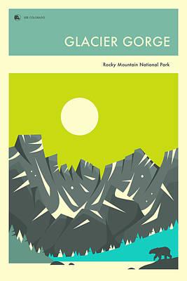 Rocky Digital Art - Rocky Mountain National Park Poster by Jazzberry Blue
