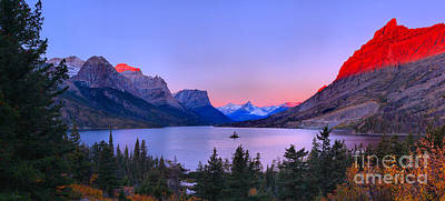 Photograph - Rocky Mountain Red Over St Mary by Adam Jewell