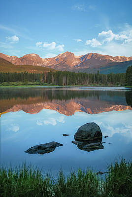 Photograph - Rocky Mountain Reflections - Estes Park Colorado Art by Gregory Ballos