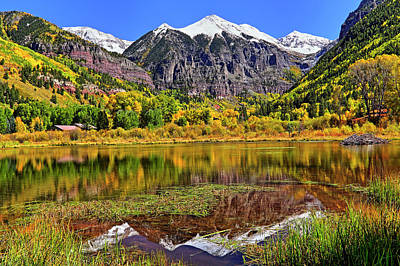 Photograph - Rocky Mountain Reflections - Telluride - Colorado by Jason Politte