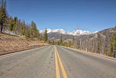 Art Print featuring the photograph Rocky Mountain Road Heading Towards Estes Park, Co by Peter Ciro