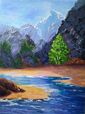 Painting - Rocky Mountain by Rosie Sherman