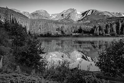 Photograph - Rocky Mountain Shadows - Colorado Landscape Black And White by Gregory Ballos