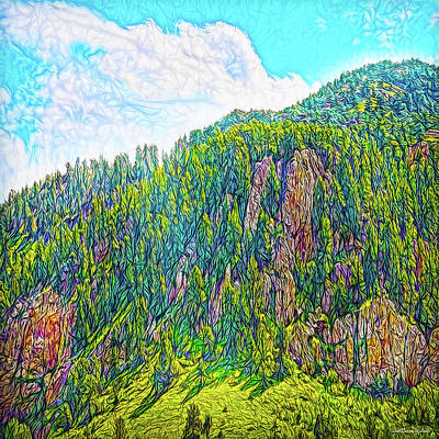 Digital Art - Rocky Mountain Sigh by Joel Bruce Wallach