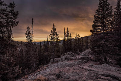 Photograph - Rocky Mountain Skyfire by Barry Cole