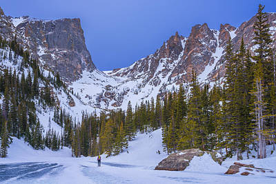 Photograph - Rocky Mountain Snowshoer by Darren White