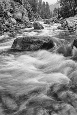 Colorado Photograph - Rocky Mountain Streaming In Black And White by James BO  Insogna