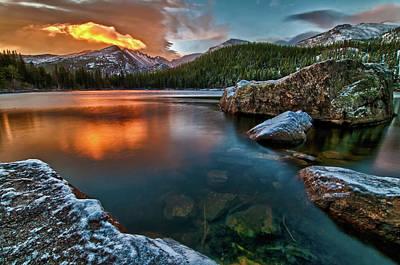 Colorado Captures Photograph - Rocky Mountain Sunrise Dream by Mike Berenson