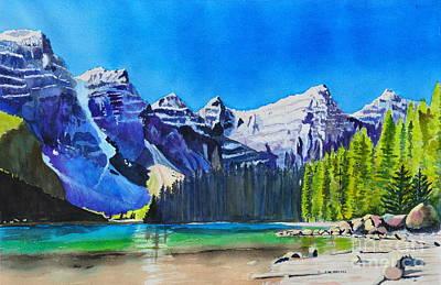 Painting - Rocky Mountain Sunrise by John W Walker