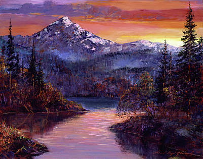Mountain Royalty-Free and Rights-Managed Images - Rocky Mountain Sunset by David Lloyd Glover