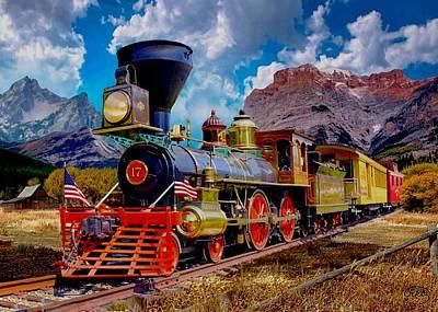 4th July Digital Art - Rocky Mountain Train 2 by Ron Chambers