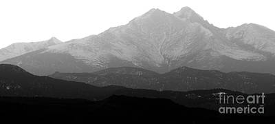 Photograph - Rocky Mountain Twin Peaks Bw by James BO Insogna