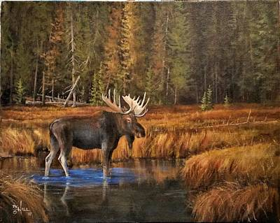 Painting - Rocky Mountain Wading Pool by Paul K Hill