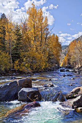 Rocky Mountain Water Print by Kelley King