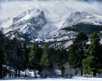 Rocky Mountain Winter Art Print