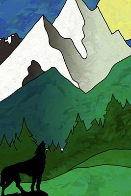 Digital Art - Rocky Mountain Wolf by John Haldane