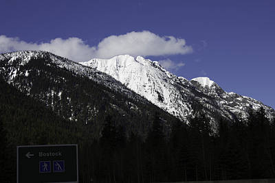 Photograph - Rocky Mountains And Blue Sky by Donna Munro