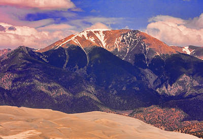 Photograph - Rocky Mountains And Sand Dunes by James BO Insogna