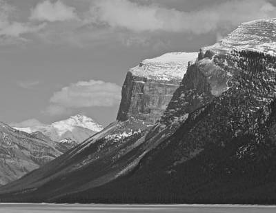 Photograph - Rocky Mountains - B/w by Josef Pittner