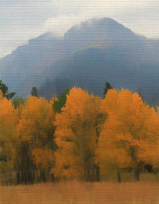 Mixed Media - Rocky Mountains Colorado Autumn  by Dan Sproul