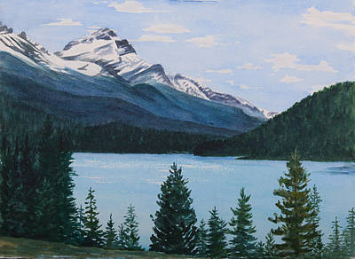 Painting - Rocky Mountains by Debbie Homewood