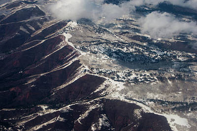 Photograph - Rocky Mountains From The Air by Mike Shaw