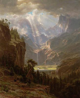 Yosemite Valley Painting - Rocky Mountains, Lander's Peak by Albert Bierstadt