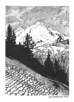 Wall Art - Drawing - Rocky Mountains by Paul Shafranski